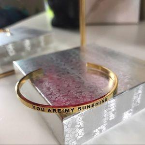 "Jewelry - 2 Left ""You are my sunshine"" cuff bracelet"